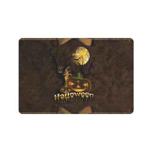 """Halloween pumpkin Doormat 24""""x16"""" (Black Base)"""