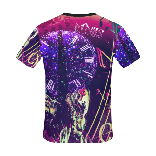 Music Lovers All Over Print T-Shirt for Men/Large Size (USA Size) Model T40)