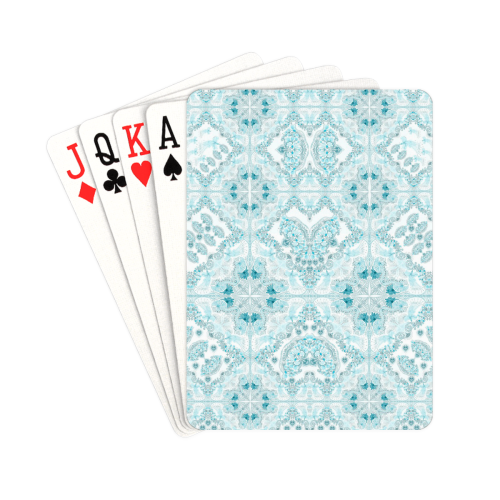 """sweet nature-turquoise Playing Cards 2.5""""x3.5"""""""