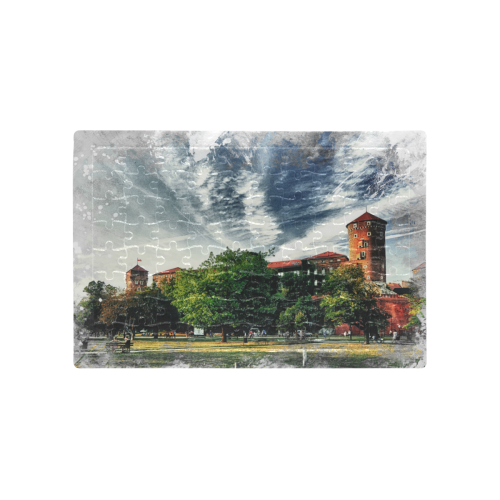 Cracow Krakow city art A4 Size Jigsaw Puzzle (Set of 80 Pieces)