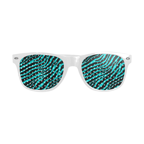 Ripped SpaceTime Stripes - Cyan Custom Goggles (Perforated Lenses)