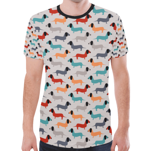 dog pattern New All Over Print T-shirt for Men/Large Size (Model T45)