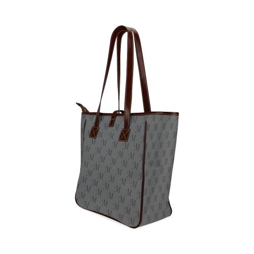 Mud-di Signature Smoky Gray Classic Tote Bag (Model 1644)