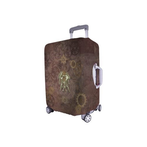 "Steampunk Zodiac Twins Luggage Cover/Small 18""-21"""