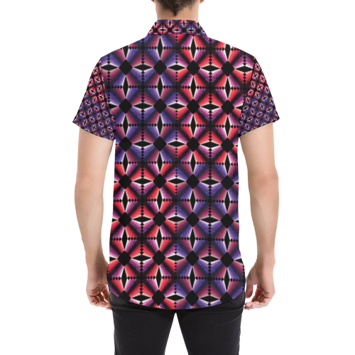 daring Men's All Over Print Short Sleeve Shirt (Model T53)