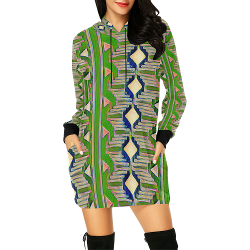 Candle Light3 All Over Print Hoodie Mini Dress (Model H27)