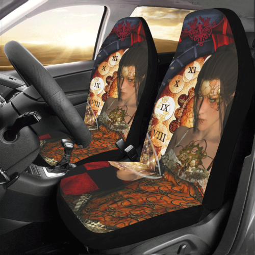Beautiful steampunk lady Car Seat Covers (Set of 2)