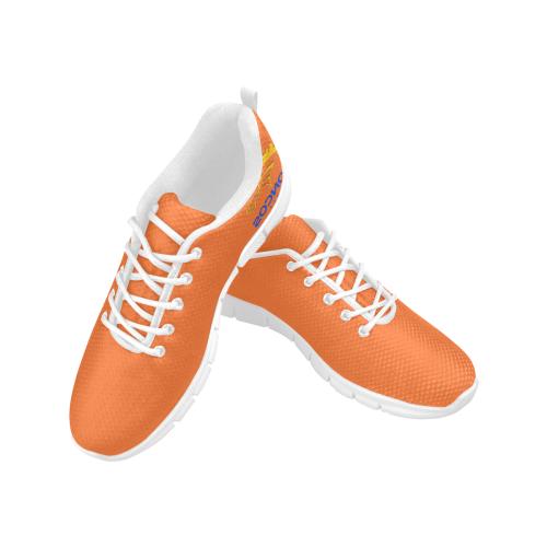 Broncos Orange Men's Breathable Running Shoes/Large (Model 055)