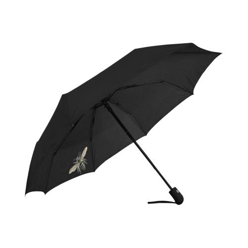 Black Lace and Bees Anti-UV Auto-Foldable Umbrella (Underside Printing) (U06)