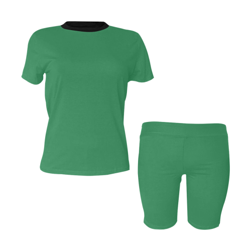 color sea green Women's Short Yoga Set (Sets 03)