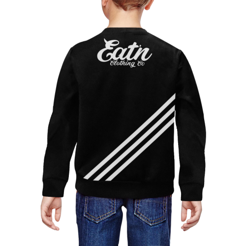 KIDS CLASSIC-STRIPE-BLACK SWEATSHIRT All Over Print Crewneck Sweatshirt for Kids (Model H29)