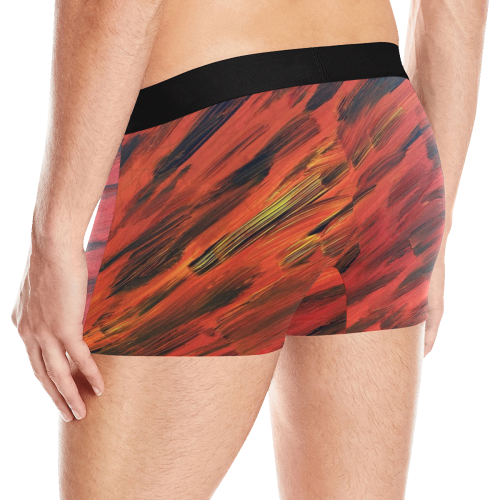 Red, Black Abstract Men's All Over Print Boxer Briefs (Model L10)