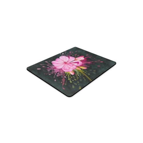 Pink flower, color splash, floral eruption Rectangle Mousepad