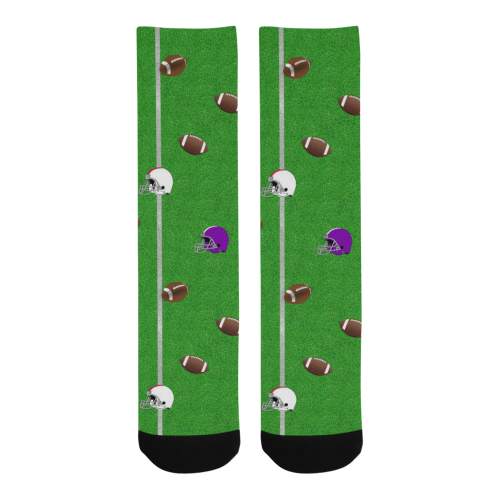 Footballs and Helmets Pattern Trouser Socks (For Men)