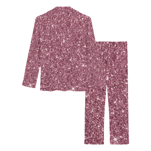 New Sparkling Glitter Print C by JamColors Women's Long Pajama Set (Sets 02)