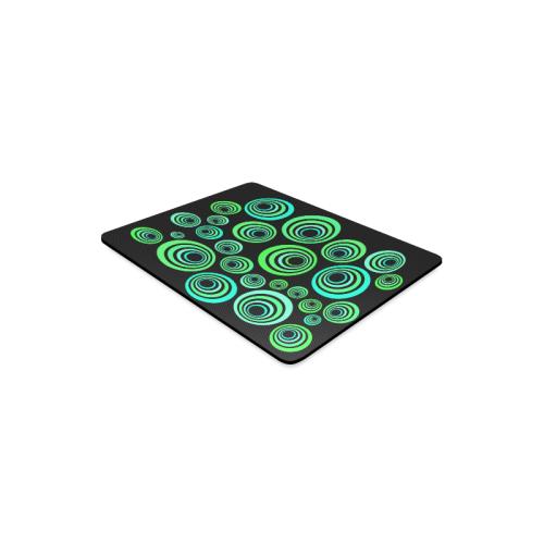 Crazy Fun Neon Blue & Green retro pattern Rectangle Mousepad