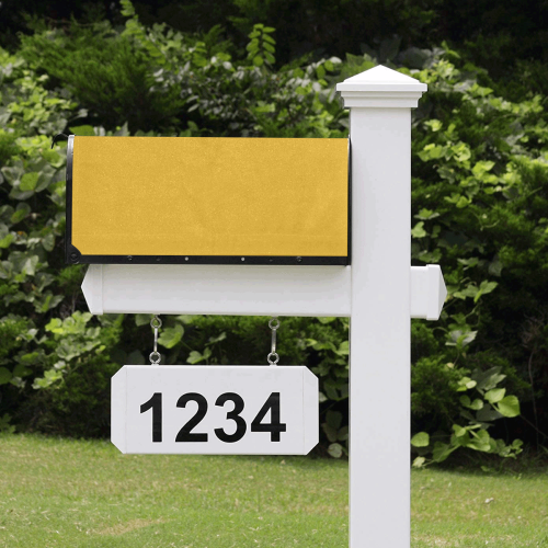 color goldenrod Mailbox Cover