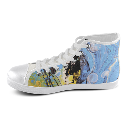 intergalactic convergence high top Women's High Top Canvas Shoes (Model 002)