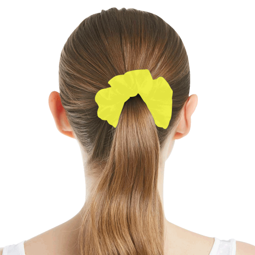 color maximum yellow All Over Print Hair Scrunchie