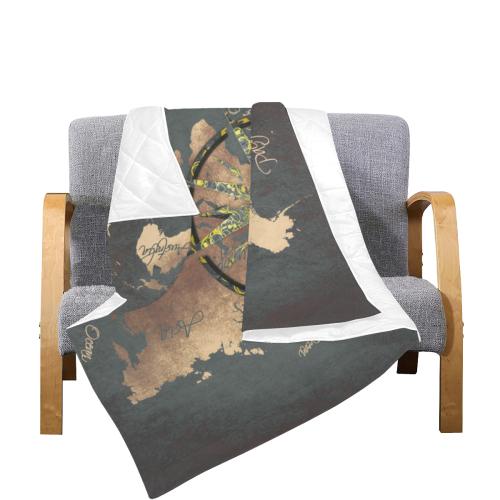 """world map wind rose #map #worldmap Quilt 70""""x80"""""""