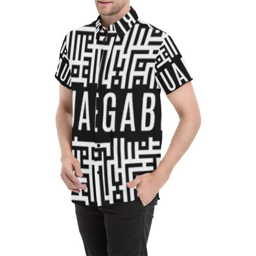 M1 Men's All Over Print Short Sleeve Shirt (Model T53)