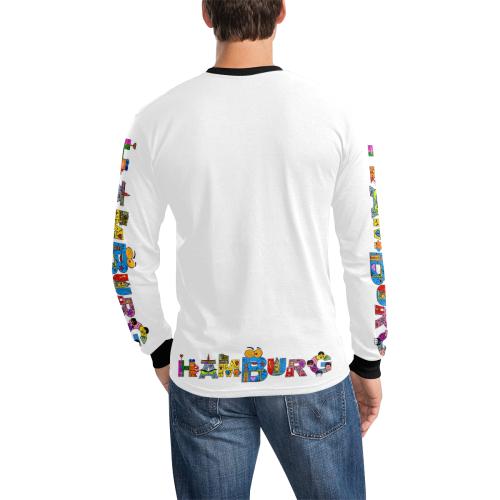 Hamburg by Nico Bielow Men's All Over Print Long Sleeve T-shirt (Model T51)