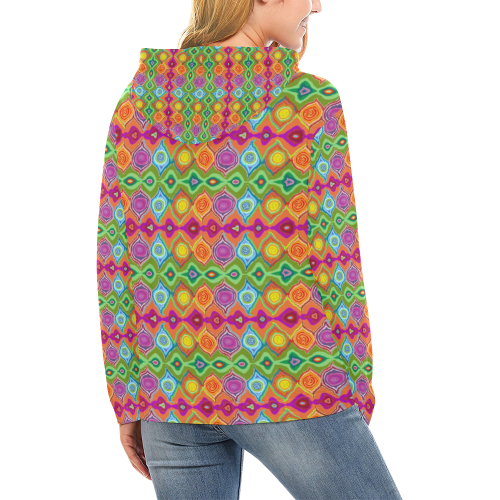 Mexican Colour Design Ladies Hoodie All Over Print Hoodie for Women (USA Size) (Model H13)