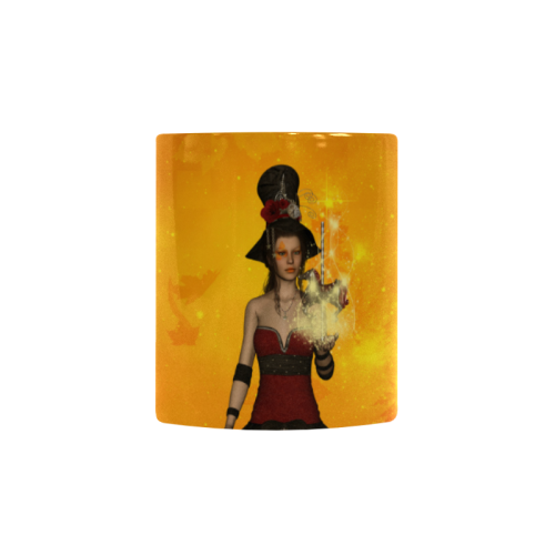 Fantasy women with carousel Custom Morphing Mug (11oz)