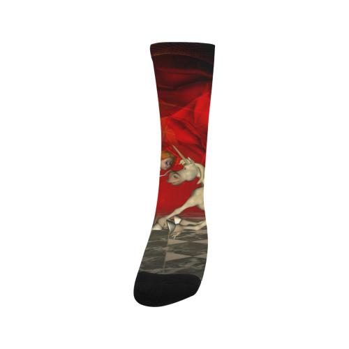 Cute little fairy and pegasus Trouser Socks (For Men)