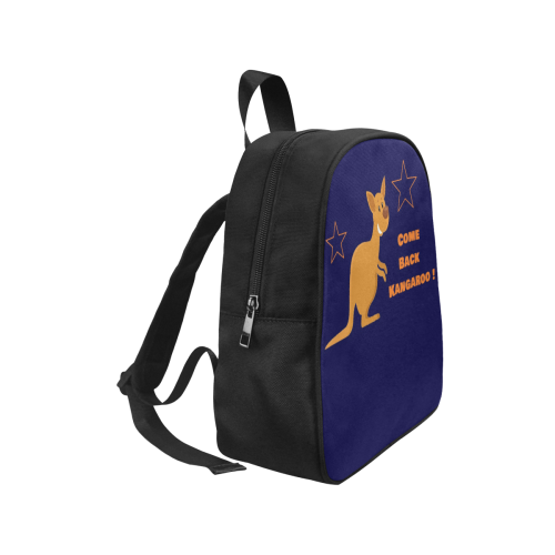 Come Back Kangaroo Orange blue Baby Bag Fabric School Backpack (Model 1682) (Small)
