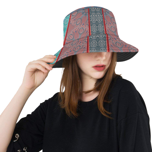 arabesques rouge All Over Print Bucket Hat