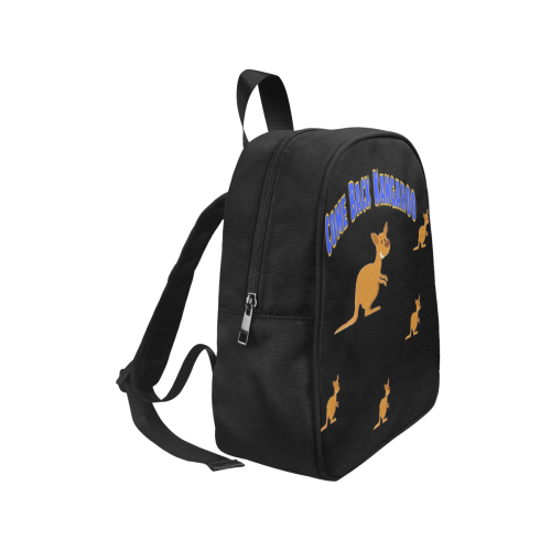 New Boys kangaroo Baby Bag tile Fabric School Backpack (Model 1682) (Small)