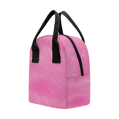 Hot Pink Breeze Insulated Zipper Lunch Bag (Model 1689)