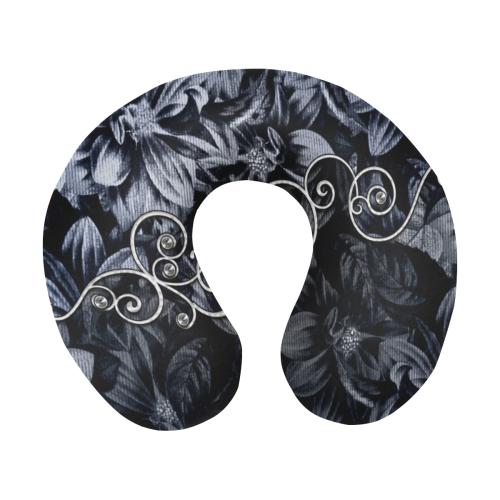 Flower power in blue U-Shape Travel Pillow