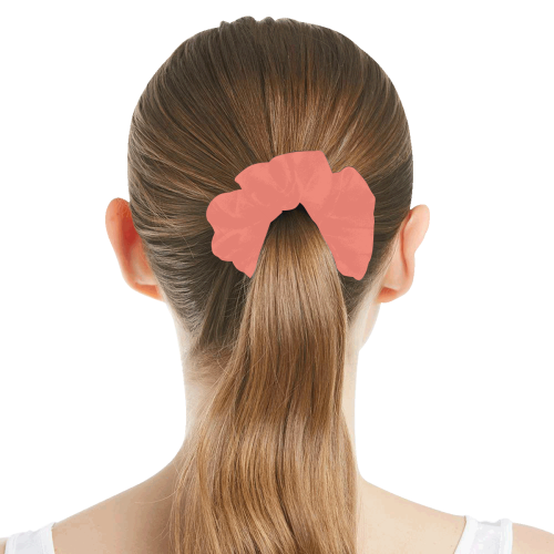 color salmon All Over Print Hair Scrunchie
