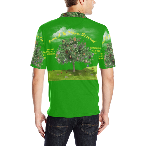 Proud To Have Served S/S Pullover Shirt Men's All Over Print Polo Shirt (Model T55)
