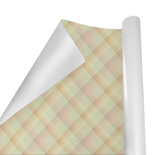 """Pastel Yellow Orange Crisscross Stripes Gift Wrapping Paper 58""""x 23"""" (1 Roll)"""