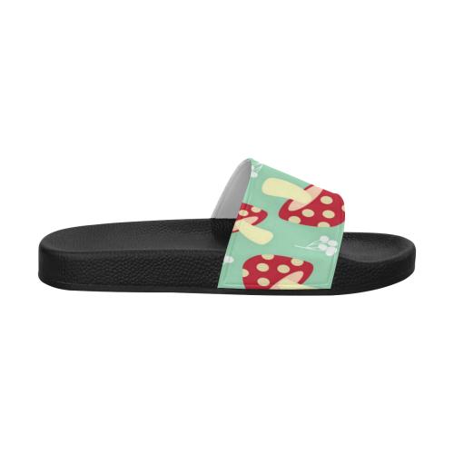 Retro Mushrooms Women's Slide Sandals (Model 057)