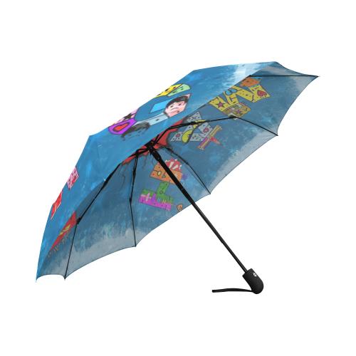 Hamburg Germany Pop Art by Nico Bielow Auto-Foldable Umbrella (Model U04)