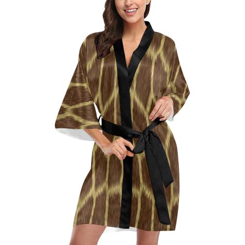 Giraffe Print Kimono Robe