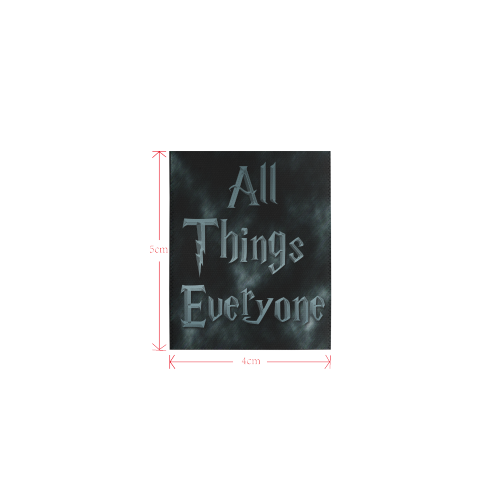 All Thigs Everyone Logo Private Brand Tag on Area Rug (4cm X 5cm)