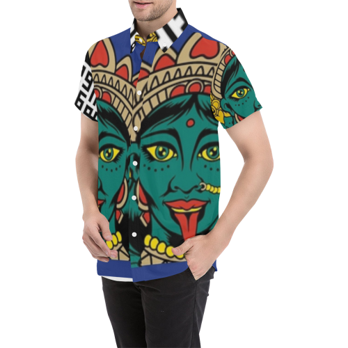 Arturo Gasha Men's All Over Print Short Sleeve Shirt (Model T53)