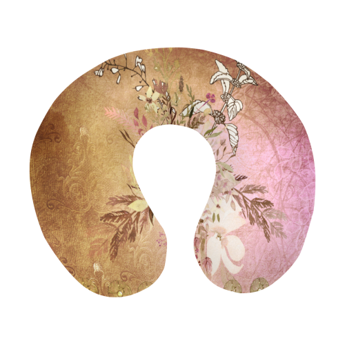 Wonderful floral design, vintage U-Shape Travel Pillow