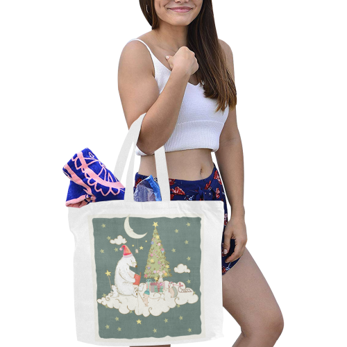 Cute Christmas Dreams Canvas Tote Bag/Large (Model 1702)