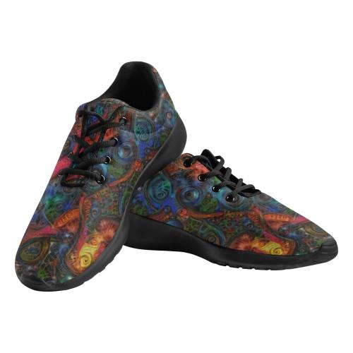 Lustmord 054_Between Interval Men's Athletic Shoes (Model 0200)