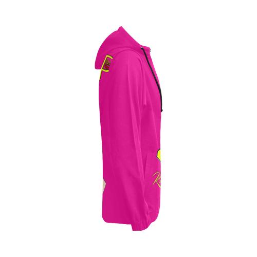hOPE gIRL hANDS pink All Over Print Full Zip Hoodie for Women (Model H14)