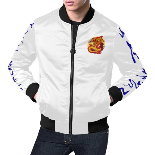 Honor & Strength All Over Print Bomber Jacket for Men (Model H19)