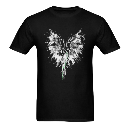 Phoenix - Abstract Painting Bird White 1 Men's T-shirt in USA Size (Two Sides Printing) (Model T02)