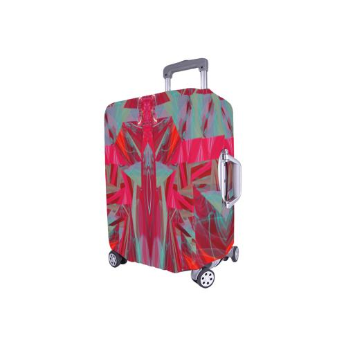 "assymetry fushia Luggage Cover/Small 18""-21"""