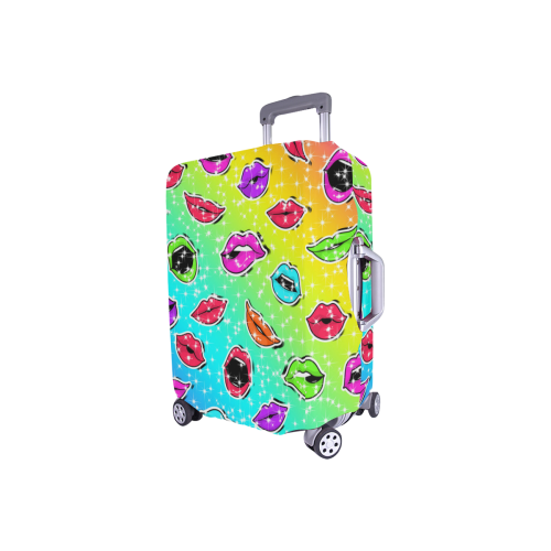 "Women Sexy Hot Lips Comic - Colorful Pattern 1 Luggage Cover/Small 18""-21"""
